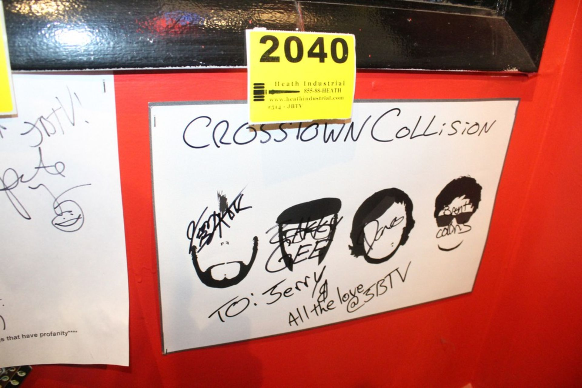 Lot 2040 - Crosstown Collision Signed Poster