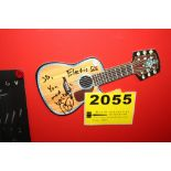 Electric Six Signed Postcard Guitar Shaped