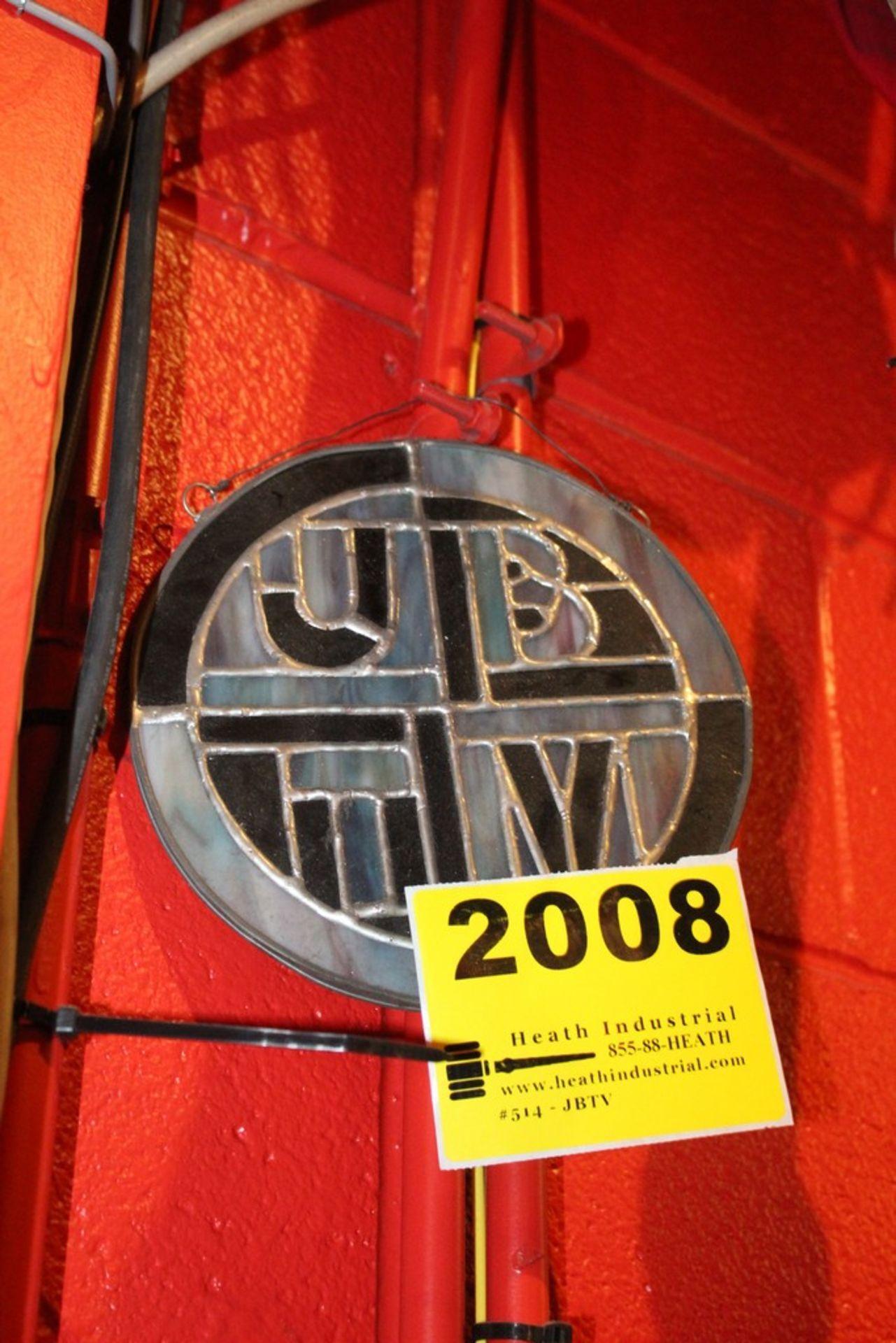 Lot 2008 - JBTV Stained Glass Window Decoration