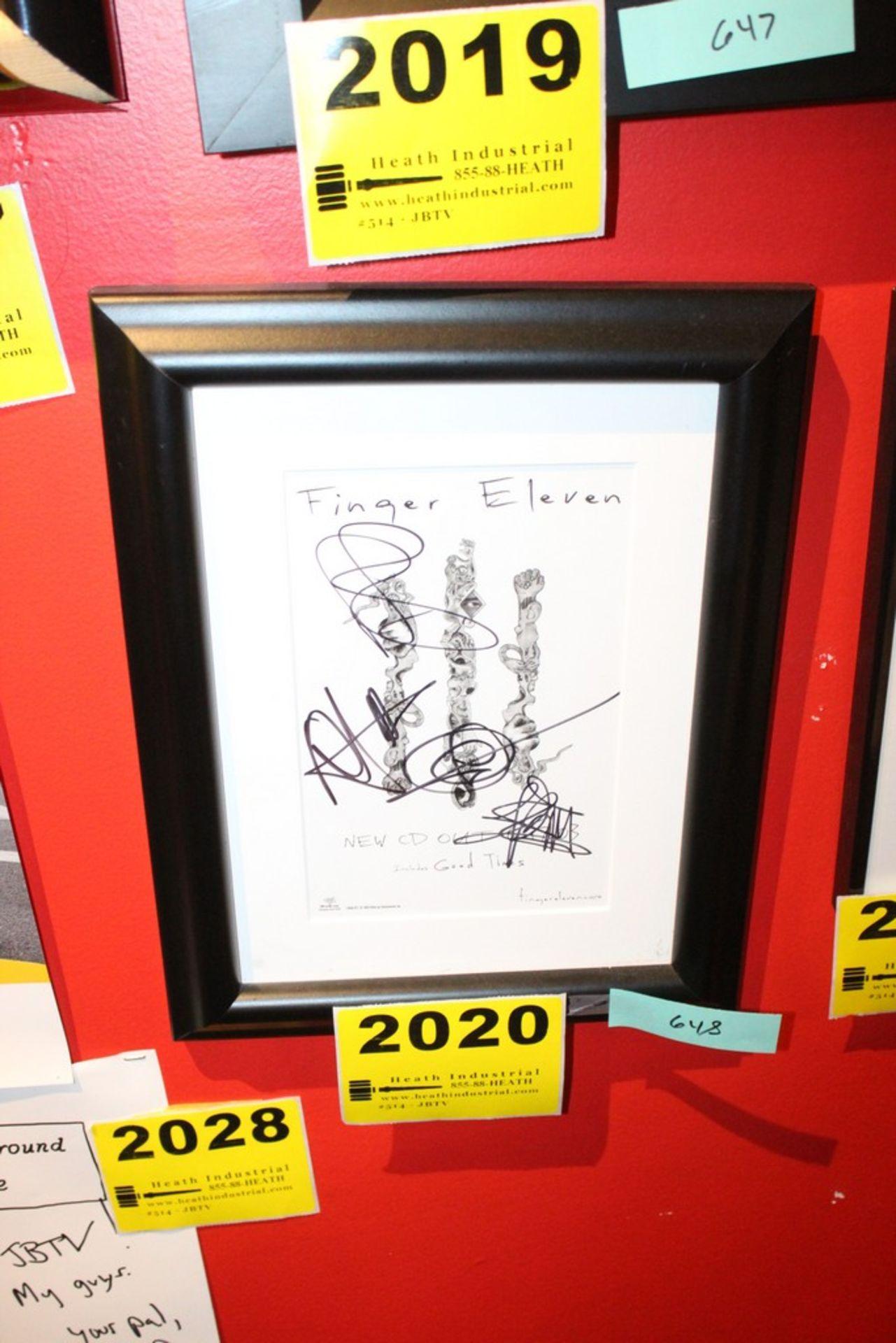 Lot 2020 - Finger Eleven Signed Framed Small Poster