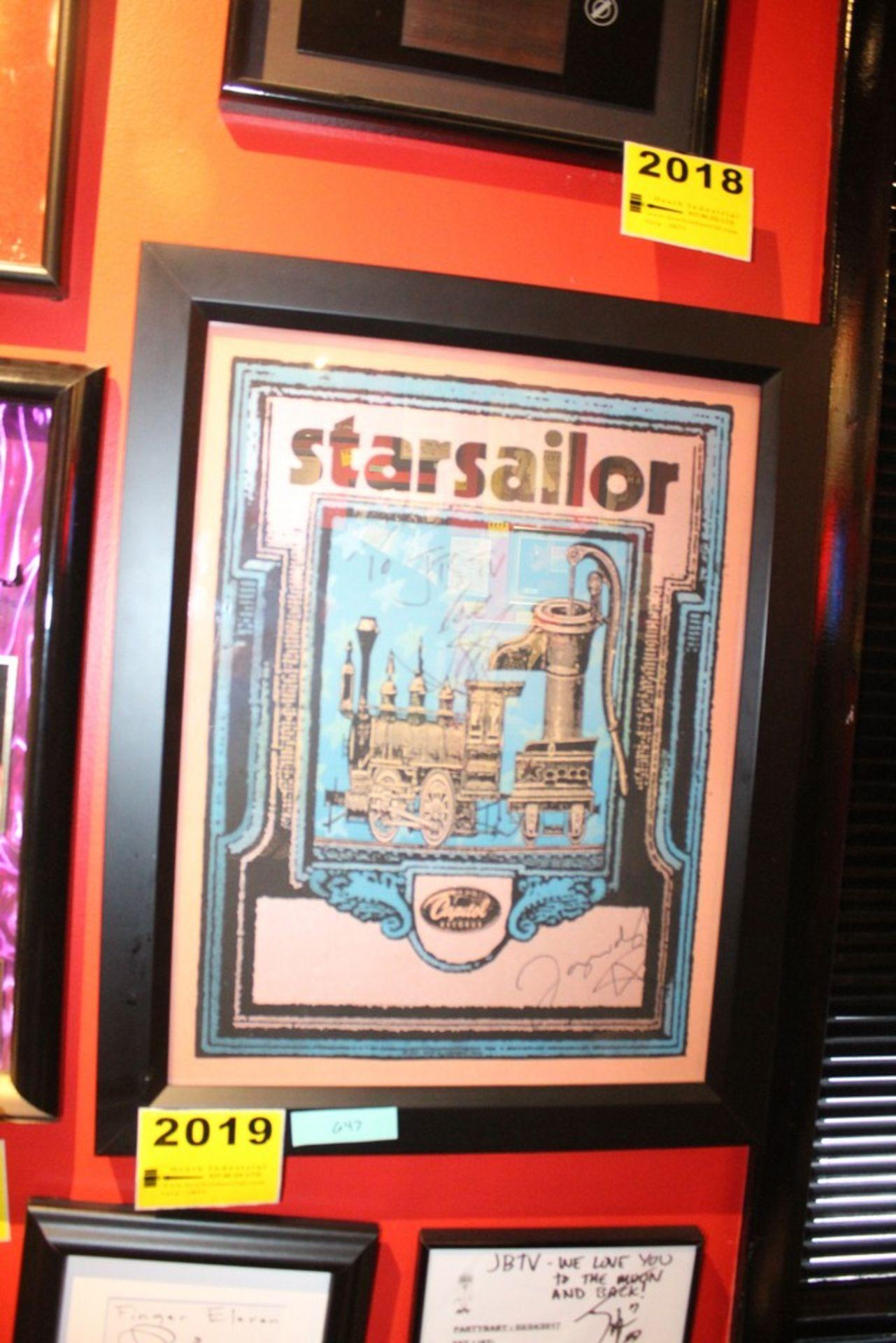 Lot 2019 - Starsailor Signed Framed Poster