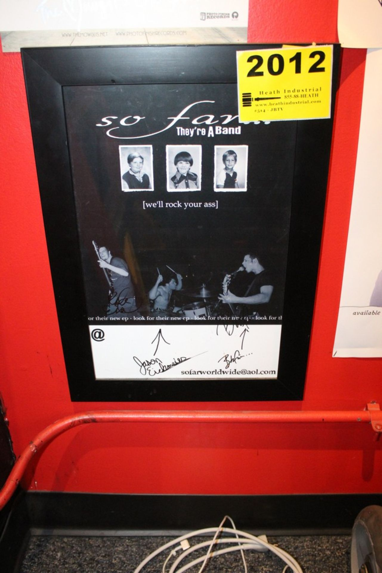 Lot 2012 - So Far Signed Framed Poster