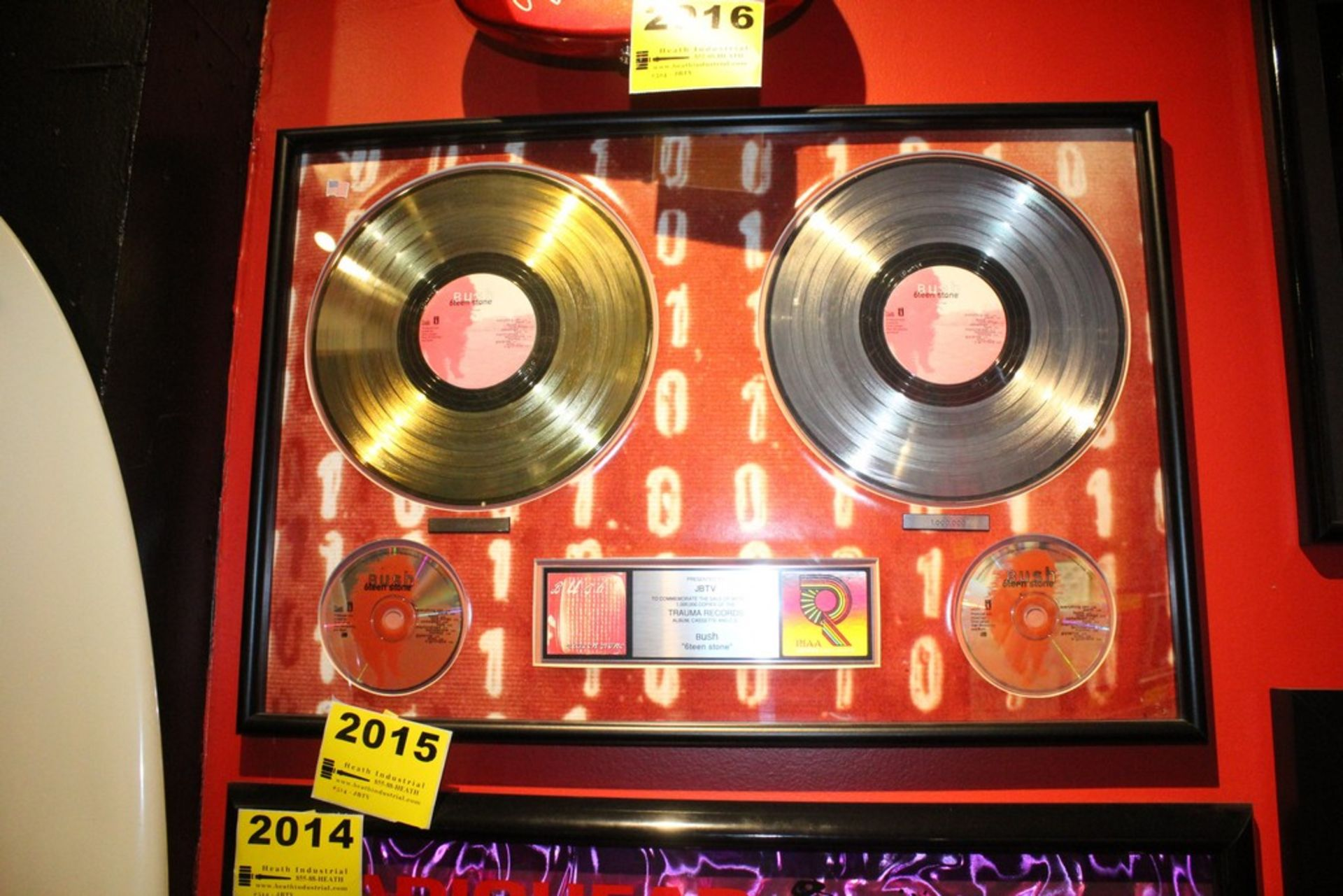 Lot 2015 - Bush 6Teen Stone Platinum Record Commemerative Display