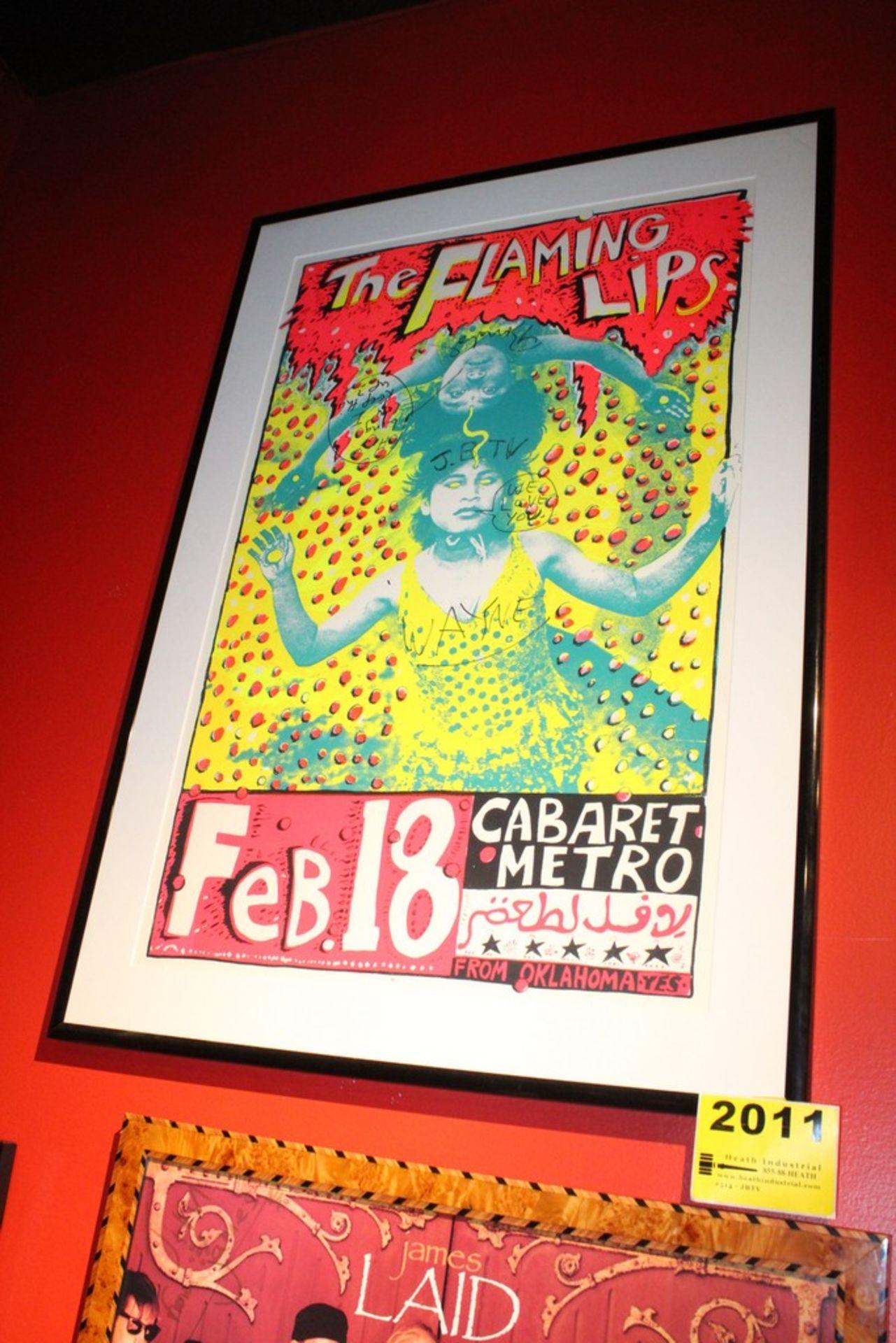 Lot 2011 - Flaming Lips Signed Concert Framed Poster
