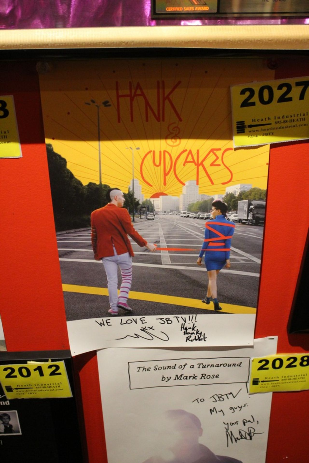 Lot 2027 - Hank and Cupcakes Signed Poster