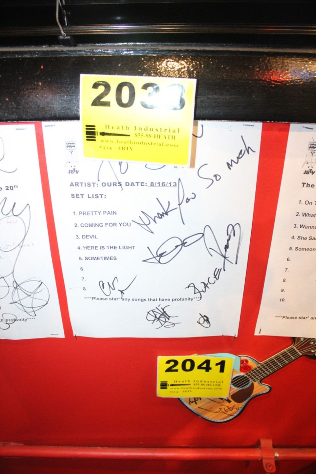 Lot 2038 - Ours Signed Set List