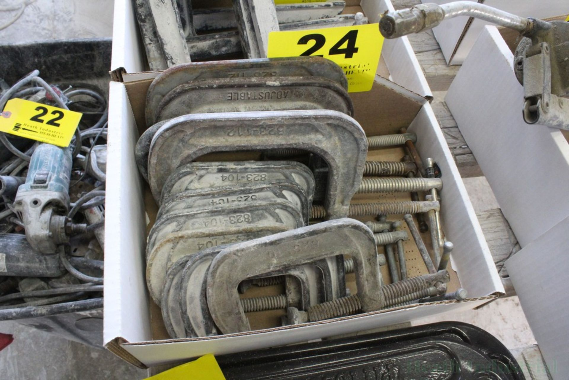 Lot 24 - (10) C-CLAMPS 3 AND 4 INCH