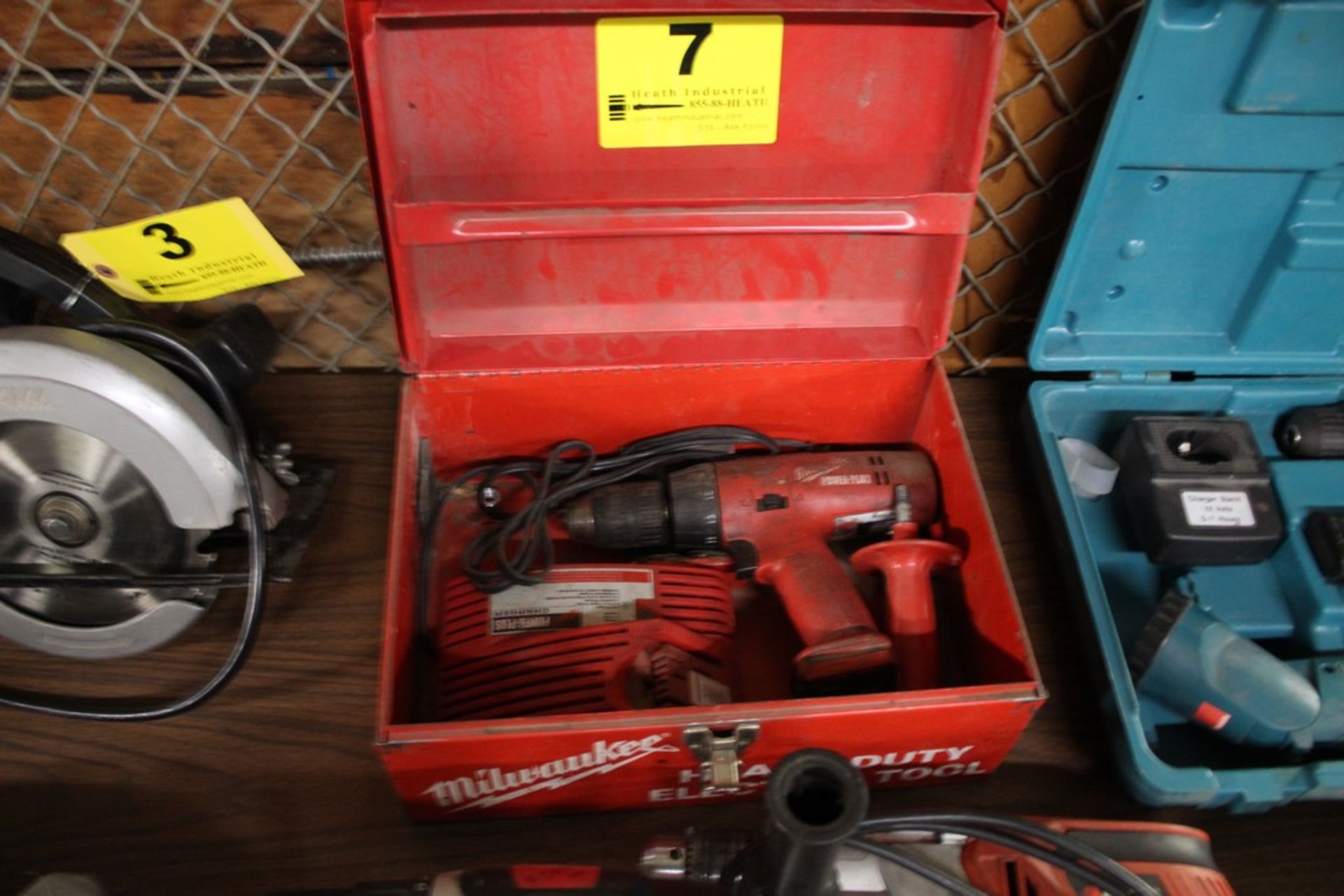 Lot 7 - MILWAUKEE POWER PLUS CORDLESS DRIVER WITH CHARGE, NO BATTERY