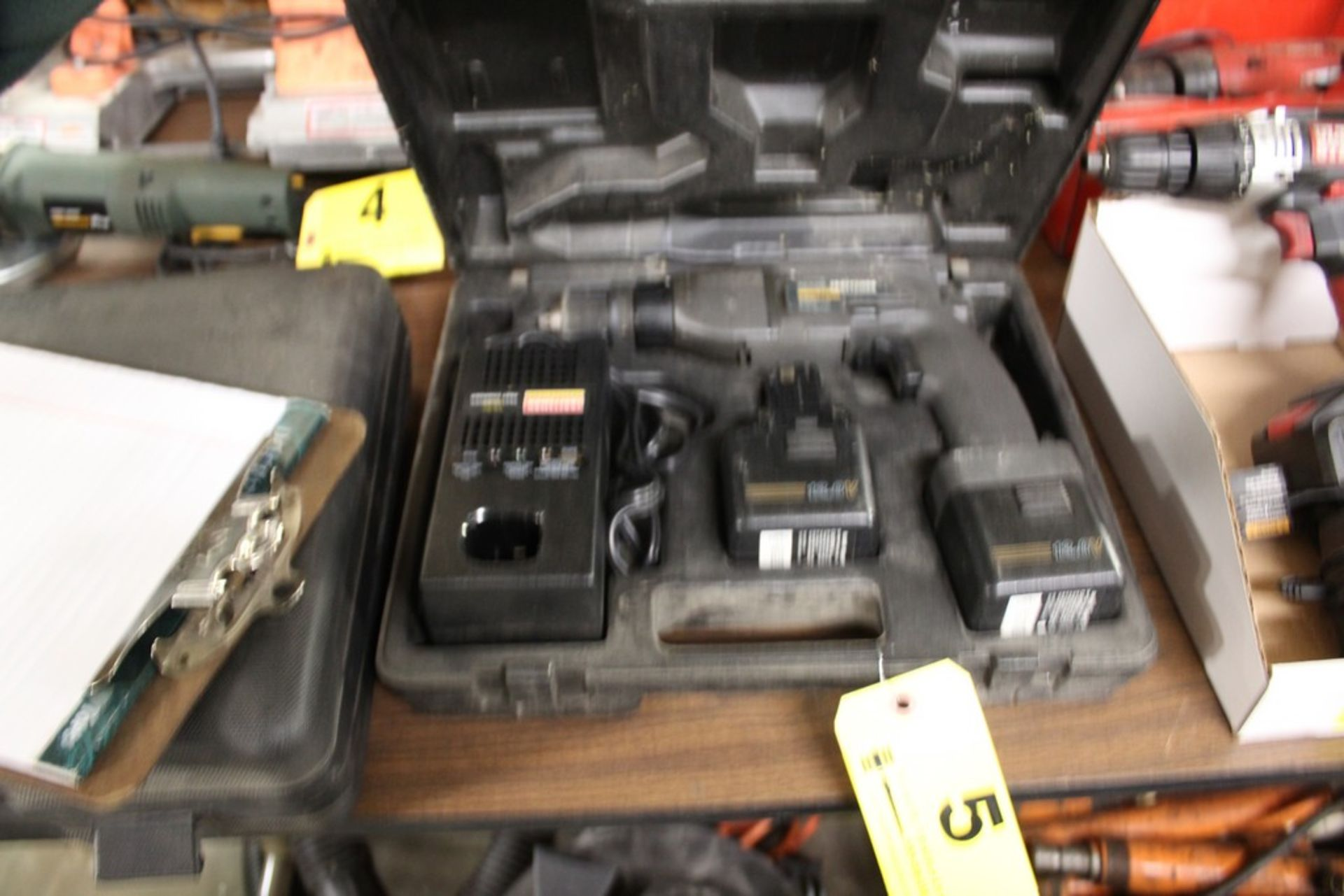 Lot 5 - SEARS CRAFTSMAN 12V CORDLESS DRIVER WITH (2) BATTERIES & CHARGER