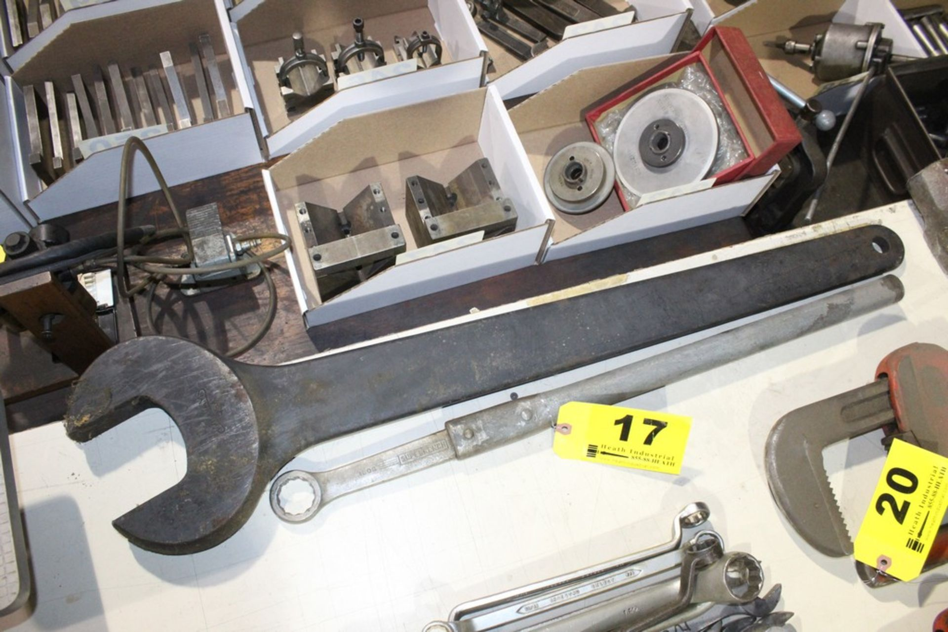 Lot 17 - (2) LARGE MACHINE WRENCHES