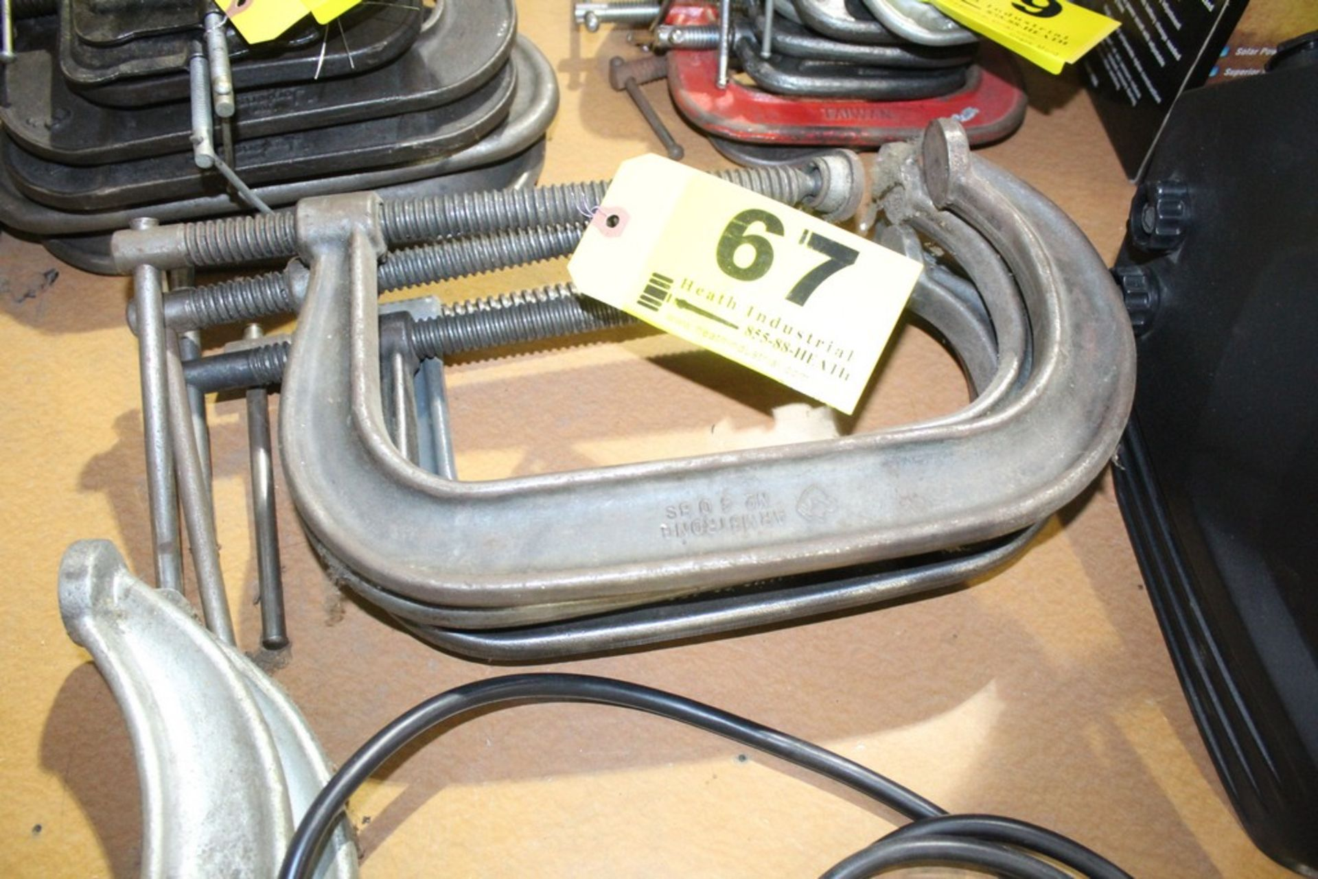 (4) ASSORTED HEAVY DUTY C CLAMPS
