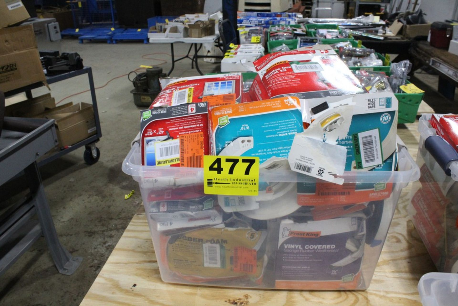 Lot 477 - LARGE ASSORTMENT OF WINDOW INSULATION SUPPLIES IN TOTE
