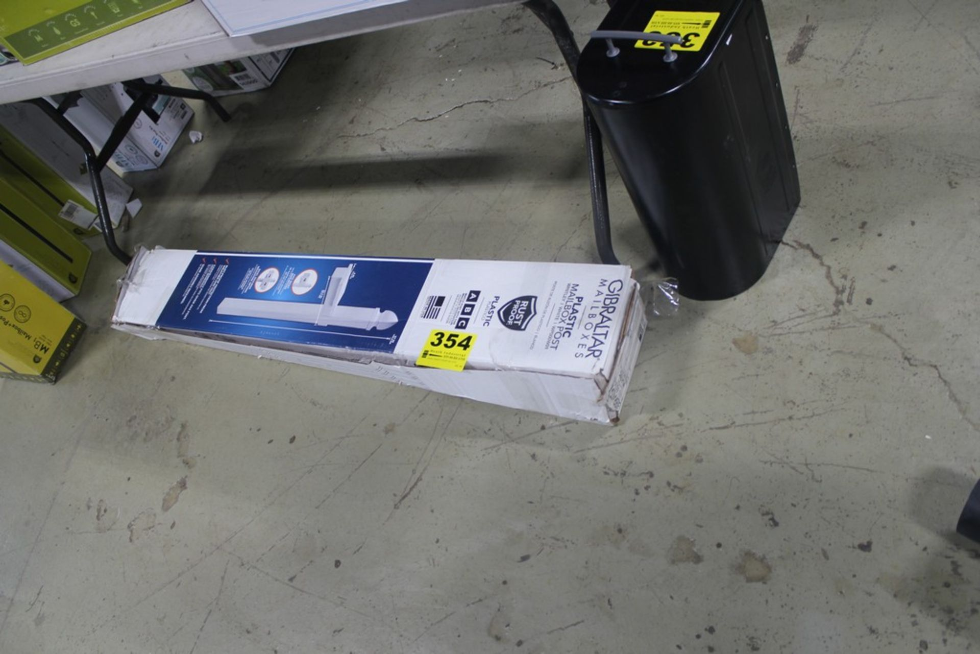 "Lot 354 - GIBRALTOR PLASTIC MAILBOX POST, 57"" X 6"" X 22.7"""