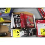 ASSORTED PNEUMATIC TOOLS AND COUPLINGS IN BOX