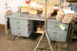 "STEEL WORKBENCH WITH DRAWERS 72""X36""X34"""