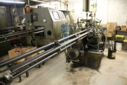 "DAVENPORT 9/16"" 5 SPINDLE MODEL B AUTOMATIC SCREW MACHINE, S/N 4680, THREADING, PICK-UP, BAR FEED"