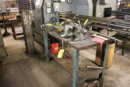 """WOODTOP WORKBENCH 60""""X30""""X36"""" WITH WILTON 1750 6"""" BULLET VISE"""
