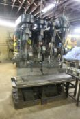 """FOUR SPINDLE PRODUCTION DRILL PRESS WITH 73"""" T SLOTTED TABLE"""