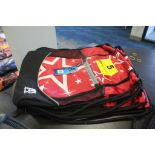 (4) A3 PERFORMANCE CINCH BAGS, MODEL A3BCIN-400 RED WITH STARS