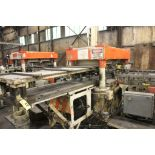 """MCKAY 4 POST CUT-OFF PRESS, 27""""X60"""" BETWEEN POSTS, WITH AIR CLUTCH AND PEDESTAL CONTROL"""