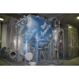 TORIT MODEL DF-2DF12 CARTRIDGE TYPE DOWNFLO DUST COLLECTOR S/N TG418536, WITH FREE-STANDING CYCLONE,
