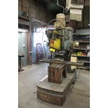 """WILTON 4' ARM 12"""" COLUMN RADIAL ARM DRILL WITH BOX TABLE Loading Fee: $300"""