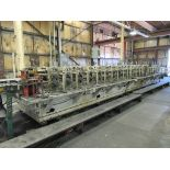 """YODER 20 STAND X 48"""" ROLL SPACE ROLL FORMER, S/N N/A, 2-1/2"""" SHAFT DIAMETER, 50 HP GEAR DRIVE"""