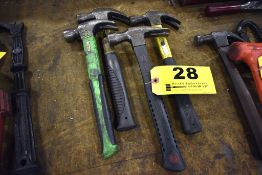 (4) ASORTED CLAW HAMMERS