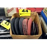 ASSORTED GRINDING WHEELS AND ABRASIVE DISKS