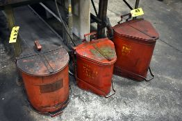 (3) OILY RAG COLLECTION CONTAINERS
