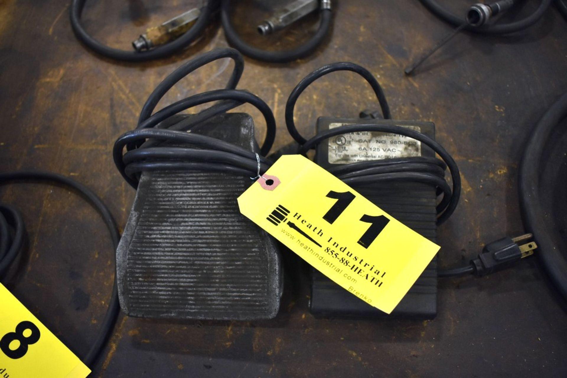 Lot 11 - (2) ELECTRIC FOOT PEDAL CONTROLS