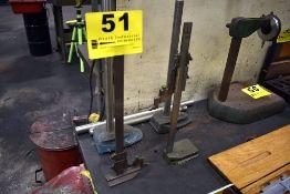 "(2) VERNIER HEIGHT GAGES STARRETT 12"",MITUTOYO 10"""