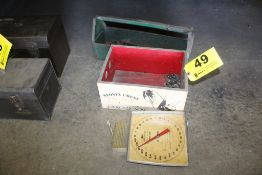 DAIRY SCALE, WOOD CRATE, TOOLBOX