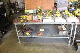 "72"" X 42"" X 32"" H WOOD TOP STEEL FRAME WORK BENCH"