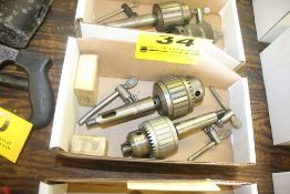 (2) ASSORTED DRILL CHUCKS WITH JAWS & KEYS (JACOBS & N/A)