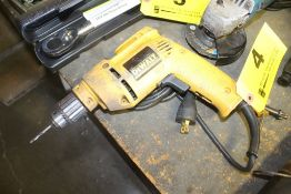 "DEWALT MODEL DW100 3/8"" VARIABLE SPPEED ELECTRIC DRILL"