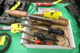 (5) ASSORTED SOLDERING IRONS