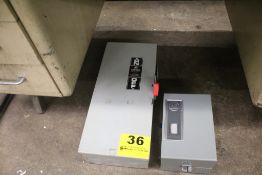 GE HEAVY DUTY SAFETY SWITCH & ALLEN BRADLEY ELECTRIC BOX