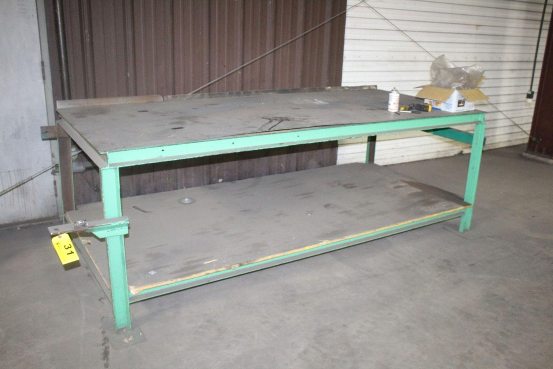 """45"""" x 103"""" x 37"""" H Heavy Duty Steel Work Table"""