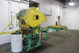 Roof Nailer Plate Line Consisting of: Bliss No 104 Two Point 45 Ton Punch Press - Horizontal Payy