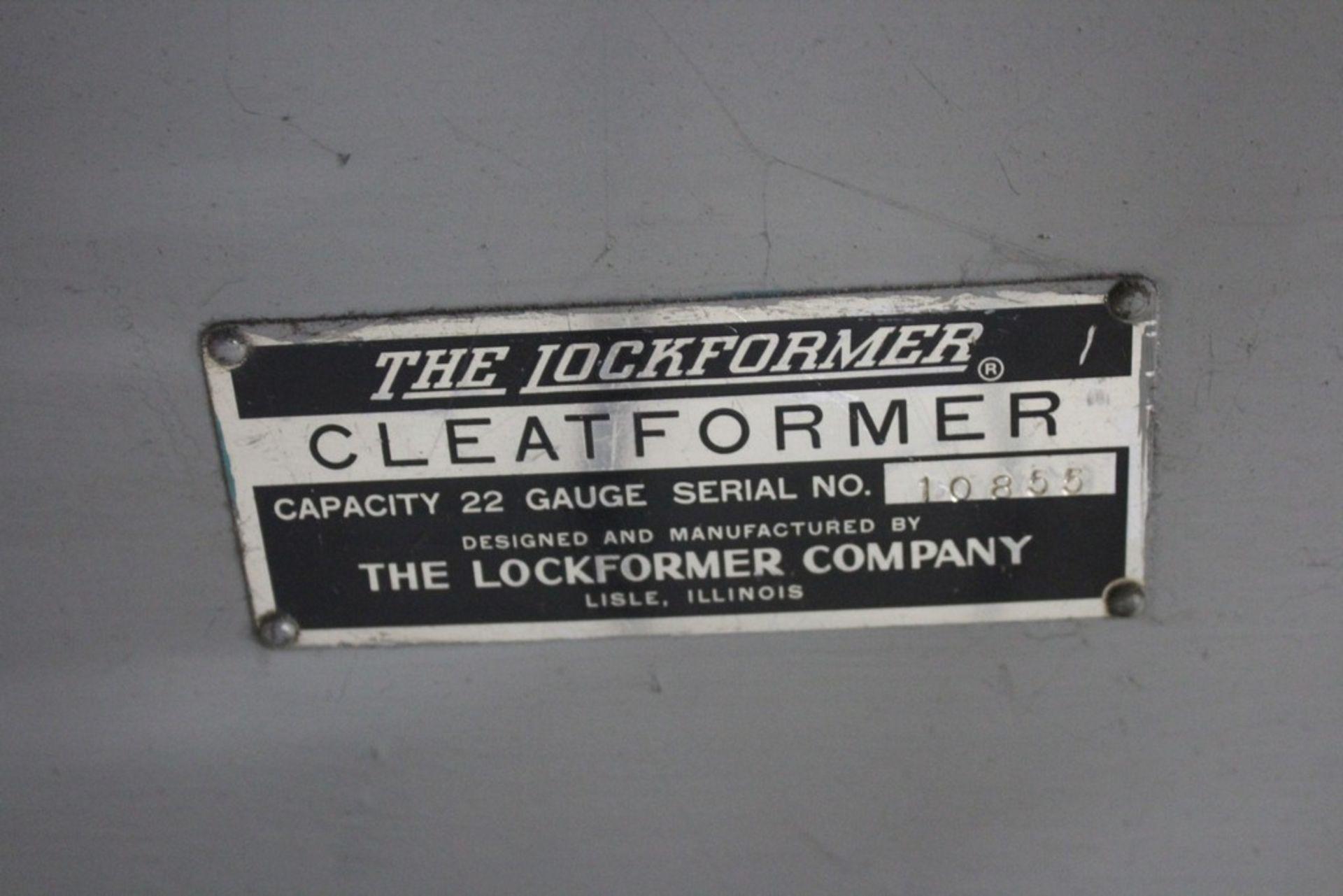 """Lot 34 - Lockformer 22ga """" Cleat Former"""" Roll Former, Serial Number: 10855"""