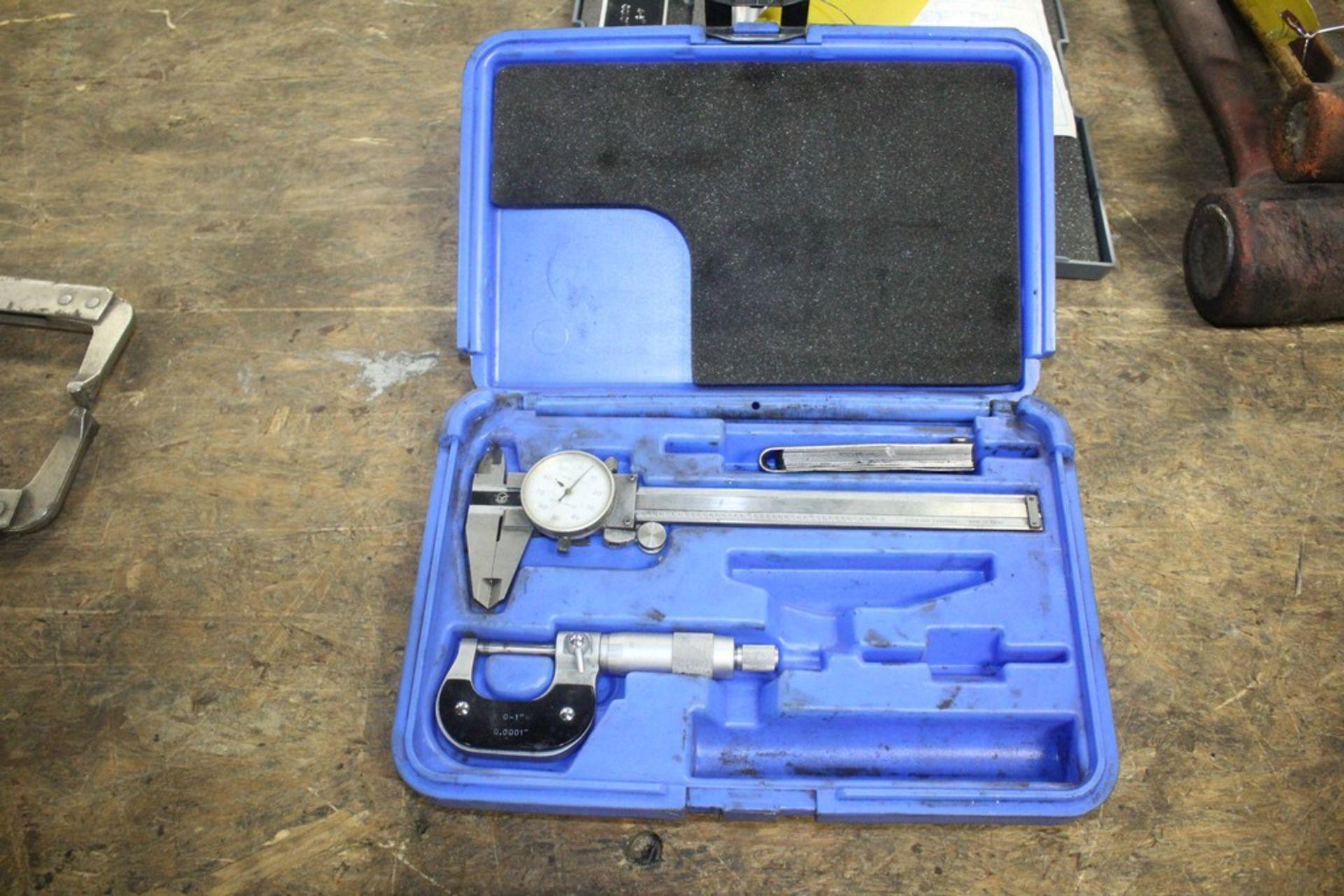 """Lot 7 - Lot: 1"""" Micrometer & 6"""" Dial Calpier Set in Box"""
