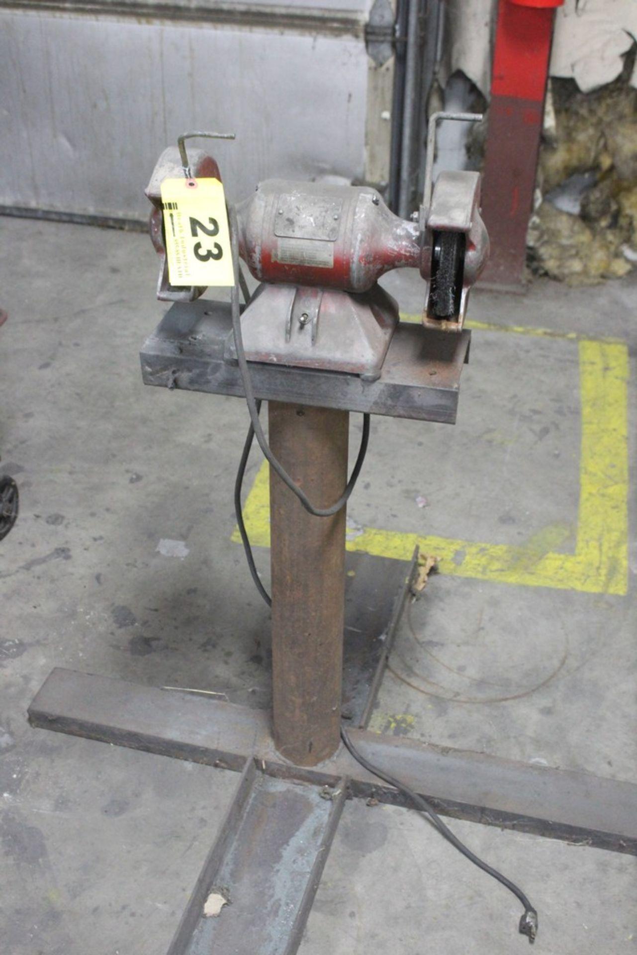 """Lot 23 - 6"""" Double End Pedestal Grinder - 115V"""