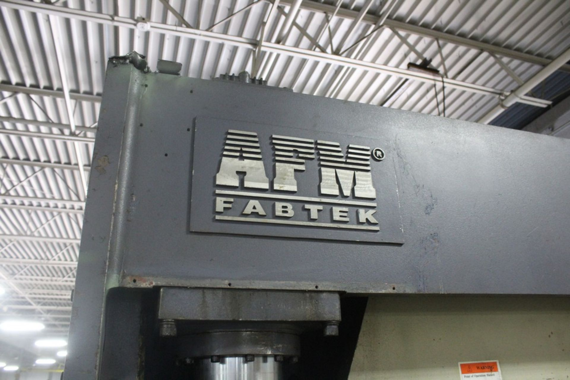 AFM Fabtek Model MPF31-165 Hydraulic Power Press Brake, Serial Number: CHPB9-90080T 165 Tons - - Image 4 of 8