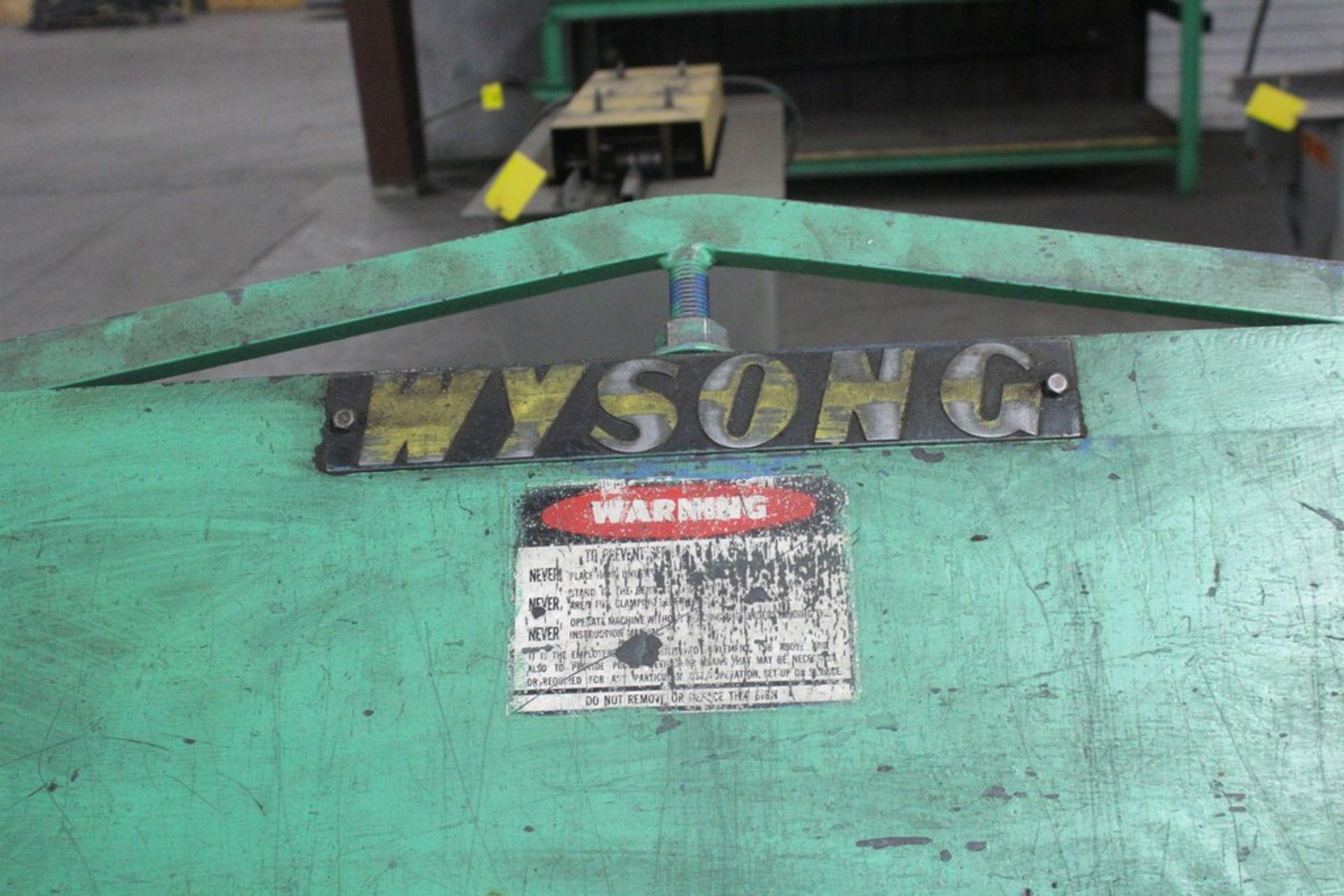 Lot 36 - Wysong Model 168-22 Apron Brake, Serial Number: HB5-267 - 14' x 22 ga Capacity