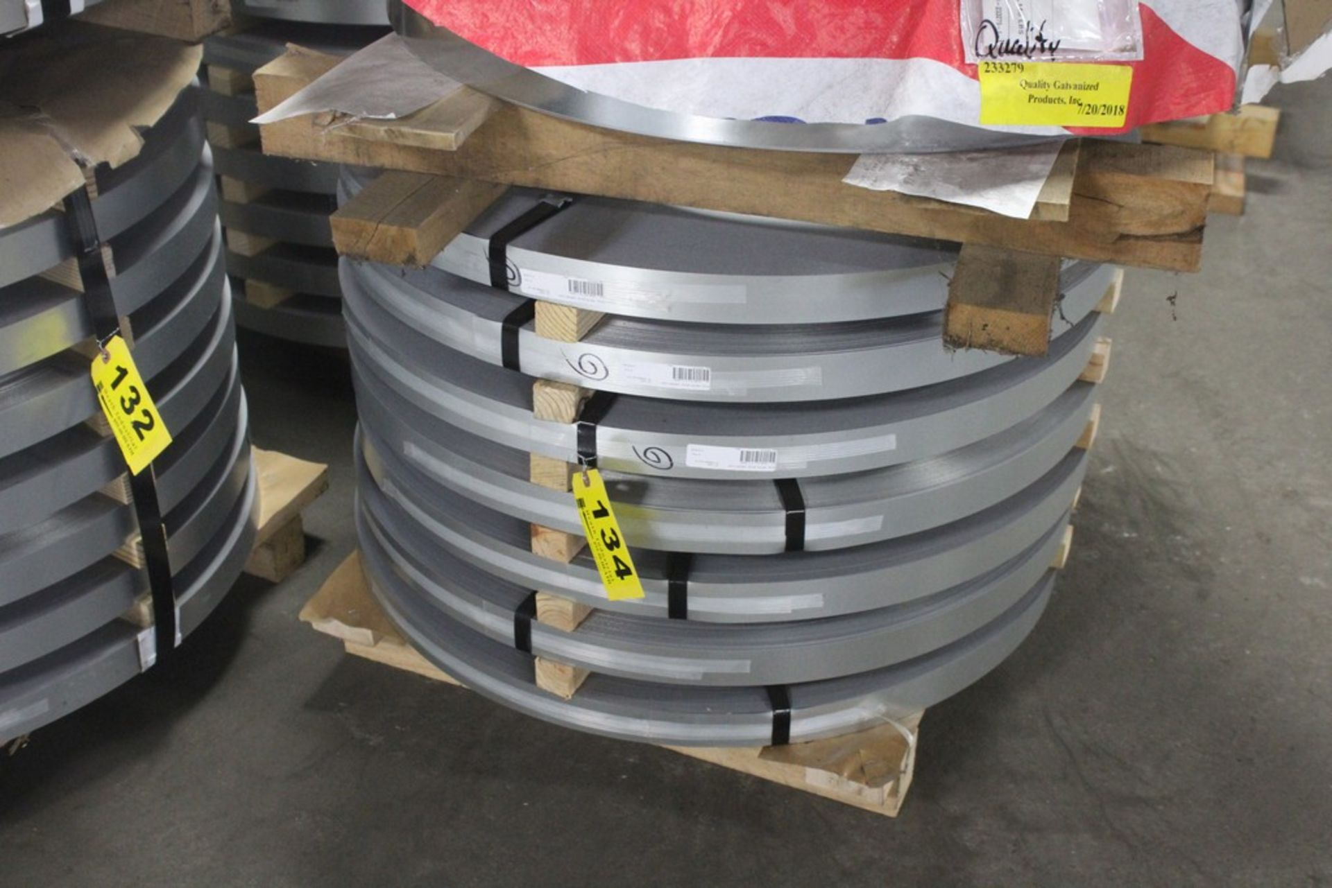 """Lot: (7) Coils - Galvanized Commercial Type B Steel - 1.9370"""" x 0.019"""" (2770 Lbs Approximately)"""