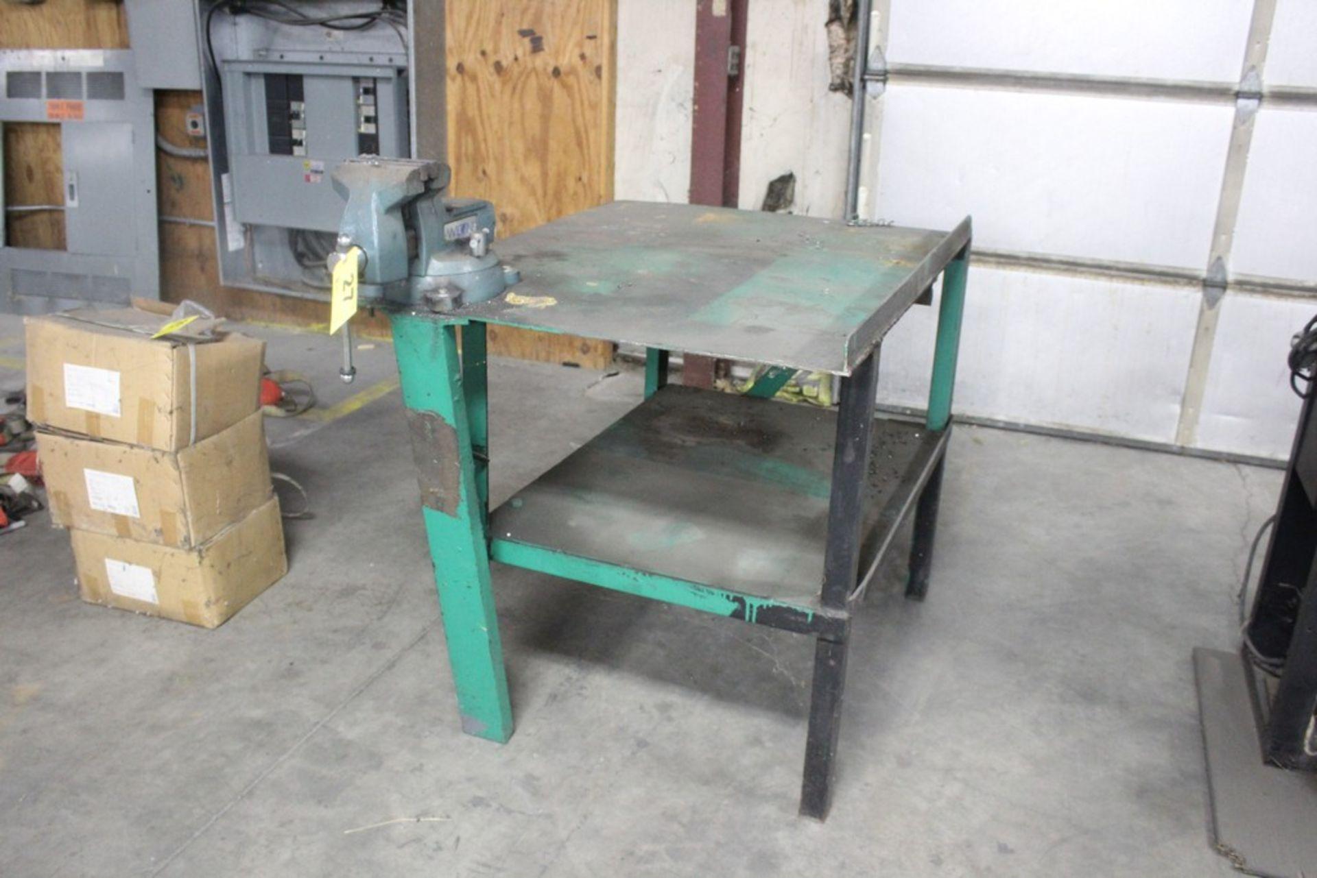 "Lot 27 - Wilton 6"" Vise Mounted on Steel Work Bench"