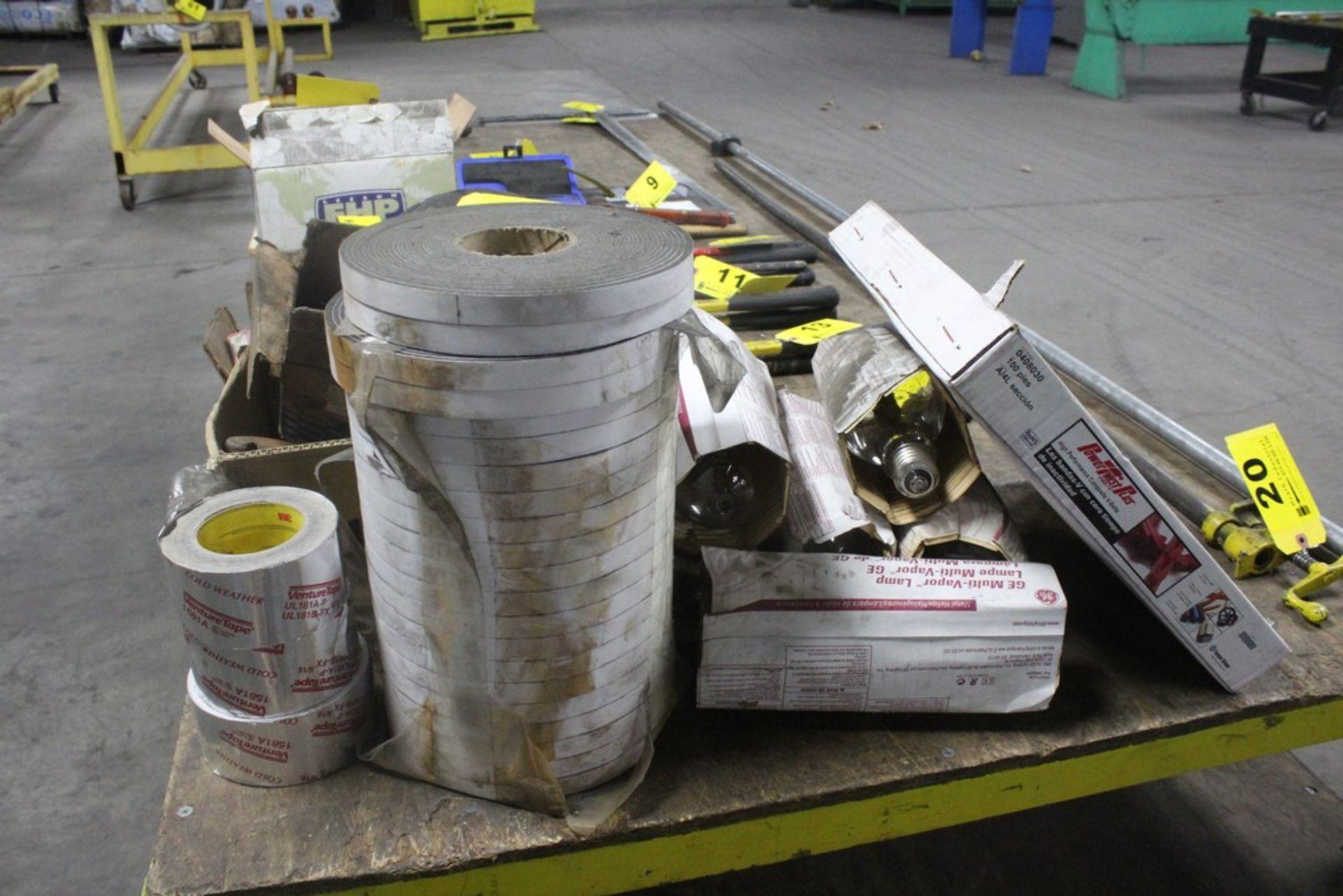 Lot 18 - Lot: Miscellaneous: Electrical - Belts - Plumbing - Tape