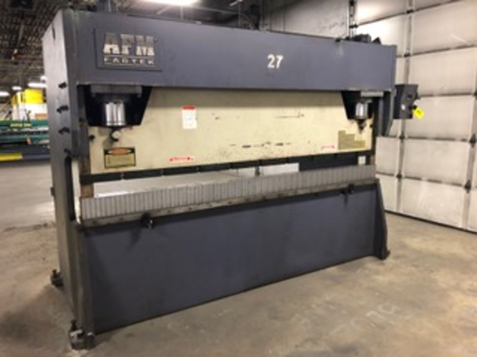 AFM Fabtek Model MPF31-165 Hydraulic Power Press Brake, Serial Number: CHPB9-90080T 165 Tons -