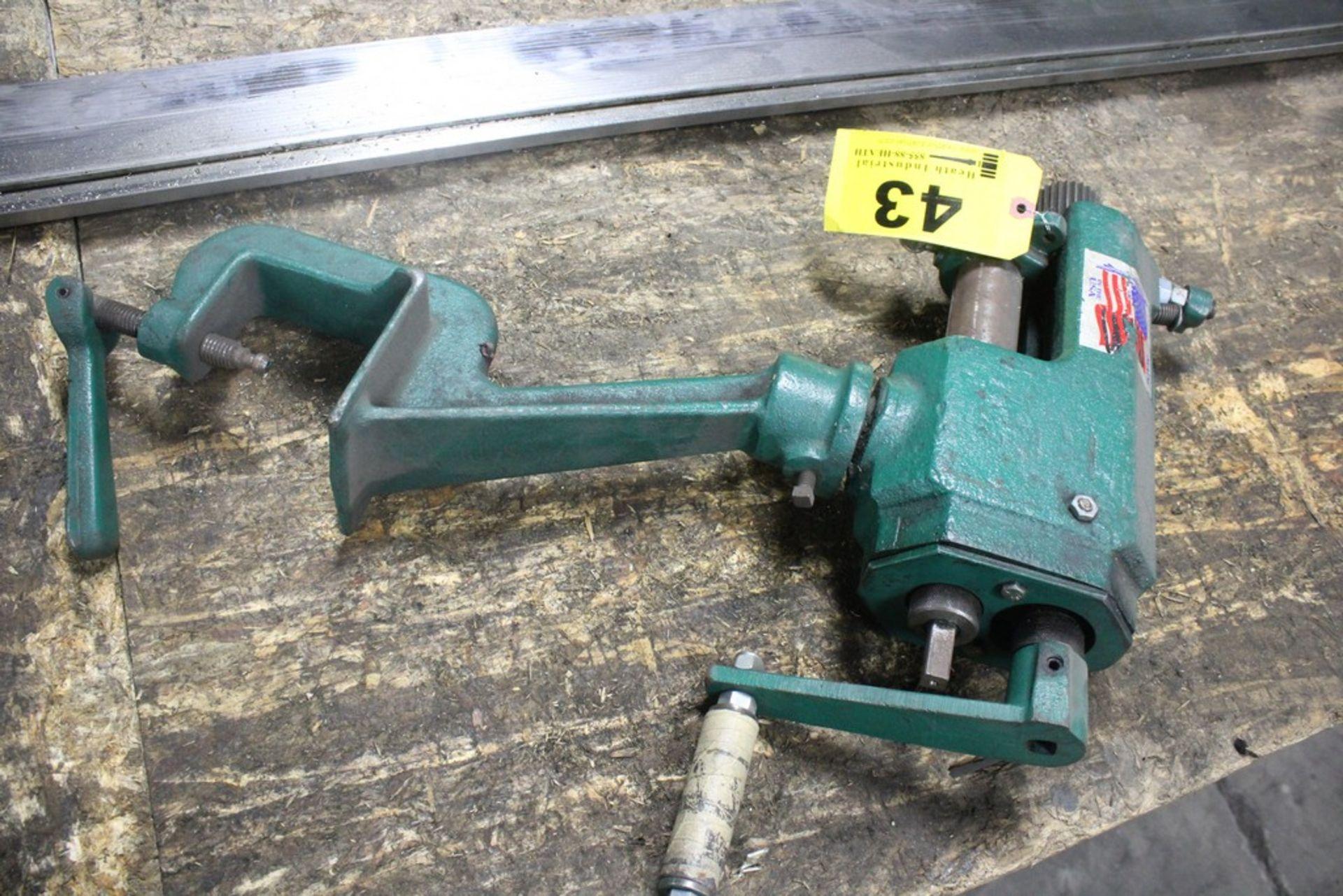 """Lot 43 - National Bench Model Crimper - 2"""" Die Width - 6"""" Throat, Serial Number: NA"""